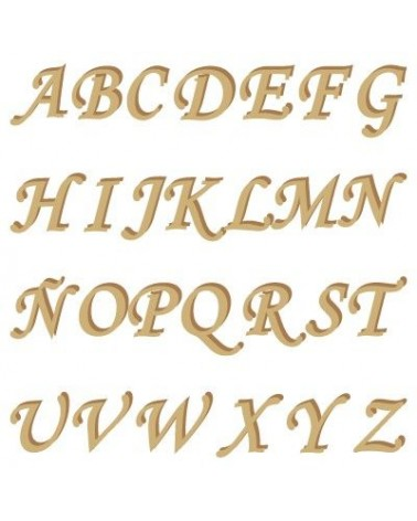Alphabet Silhouette 001 Monotype Capital Letter 15mm