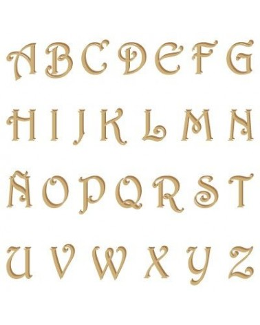 Silhouette Alphabet 002 Harrington Uppercase 60mm