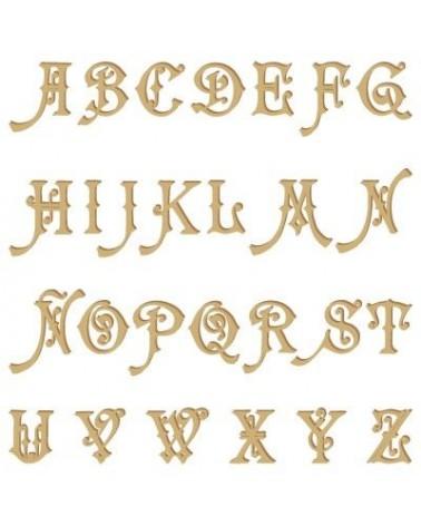 Alphabet Silhouette 004 Carmencita Capital Letter 90mm