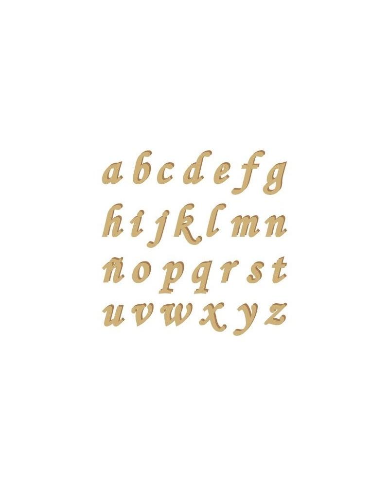 Silhouette Alphabet 006 Monotype Lowercase 10mm