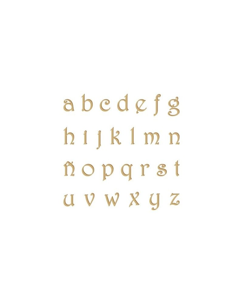 Silhouette Alphabet 007 Harrington Lowercase 20mm