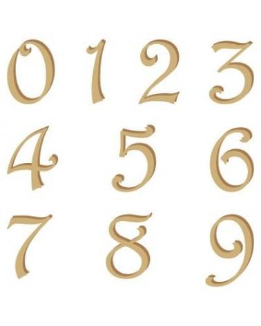Silhouette Alphabet Nummern 002 Harrington 15mm