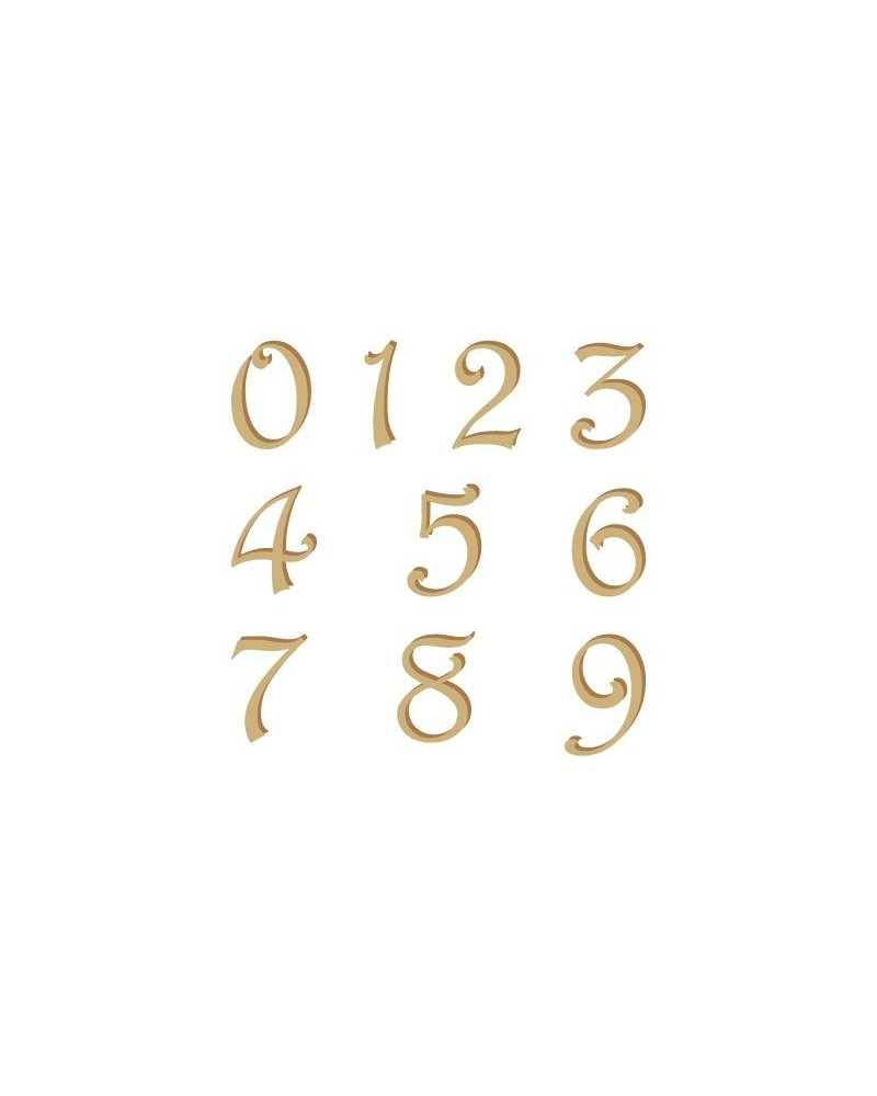 Silhouette Alphabet Numbers 002 Harrington 60mm