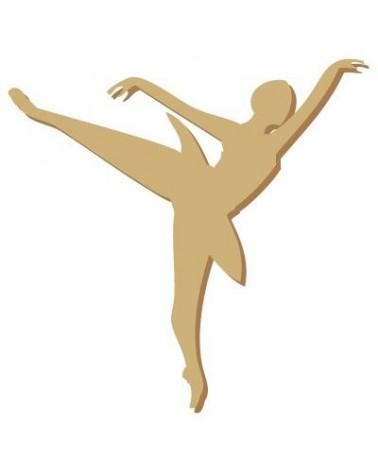 Silhouette Figur 002 Balletttänzerin