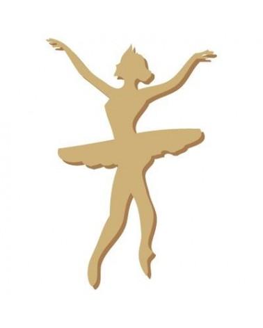 Silhouette Figur 004 Balletttänzerin