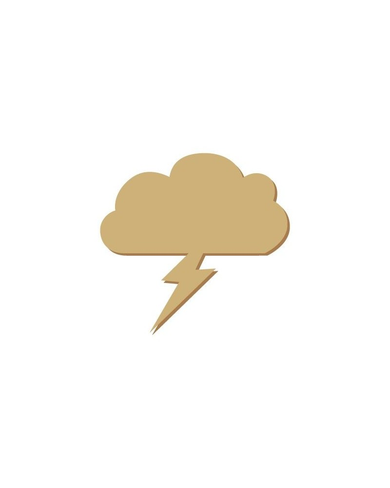 Silueta Mini 021 Nube Rayo