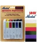 <h2>Markal Paintstik Paint Pro 50ml Basic Set 6 Farben</h2> <p>Farben, geeignet für unsere Stencils: Scrapbooking, Mischtechnik, Textilien, usw, und zu zeichnen, malen, skizzieren, Trompe l'oeil auf Leinwand, Papier, Pappe, Holz, Metall, Wände</p>