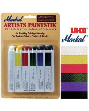 Markal Paintstik Paint Pro 50ml Set 6 Farben