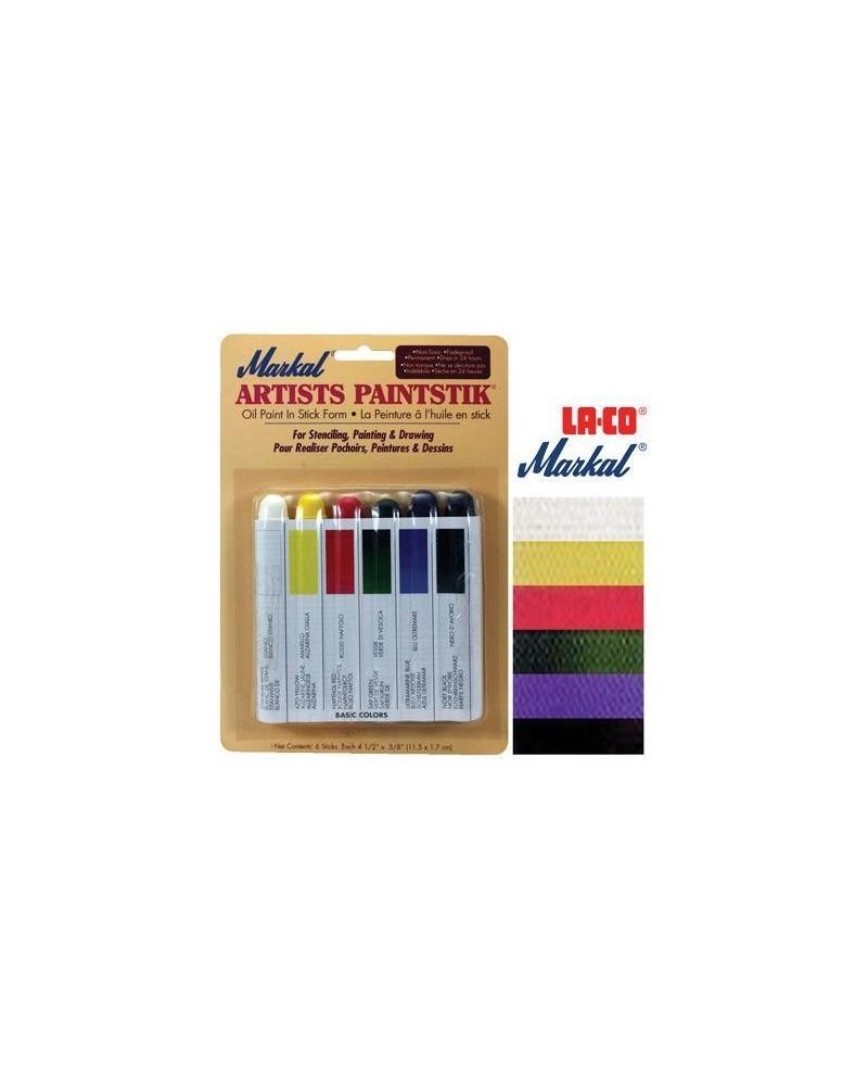 Pintura Markal Paintstik Pro 50ml Set Basico 6 Colores