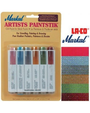 Markal Paintstik Paint Pro 50ml Traditional Set 6 Colors