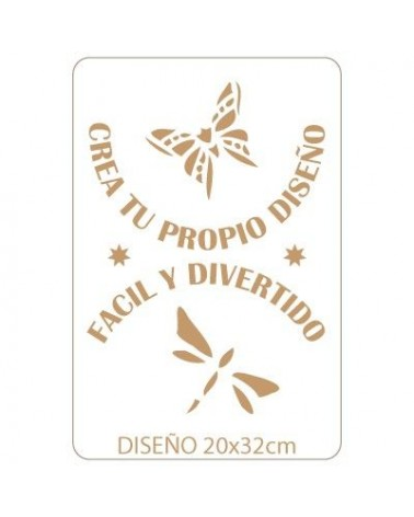 Stencil Personalizado 026 24x36cm