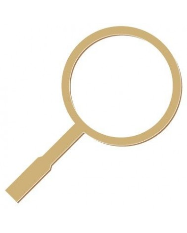 Figure Silhouette 054 Magnifying Glass