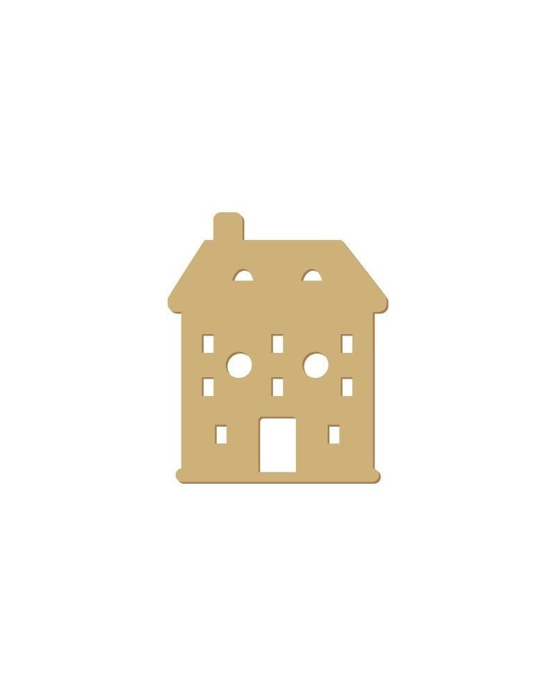 Silhouette Knopf 003 Haus