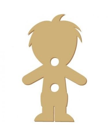Silhouette Button 006 Boy