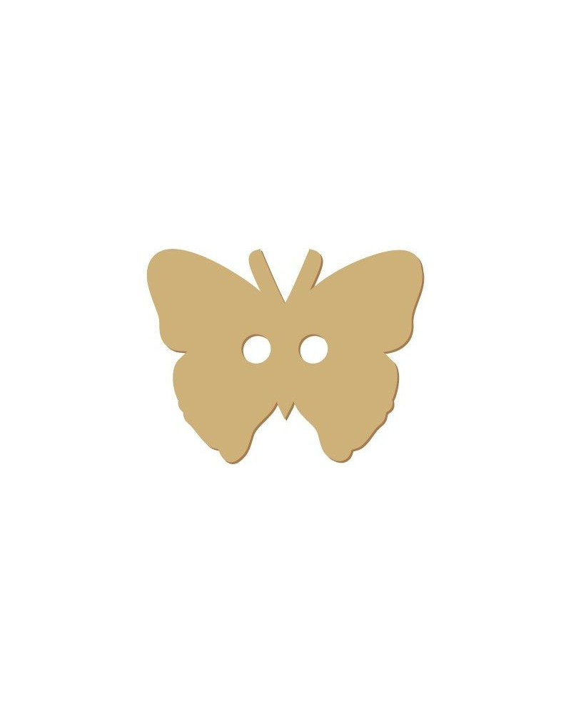 Silhouette Knopf 010 Schmetterling