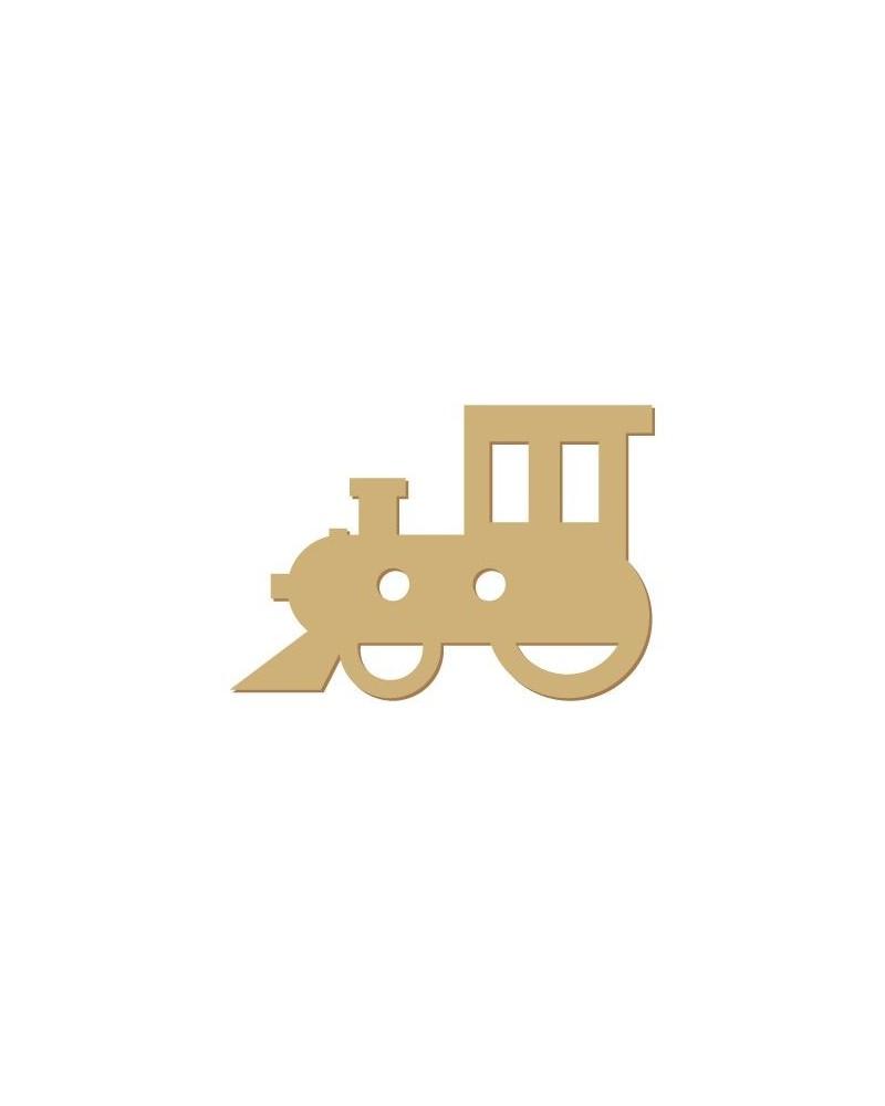 Silhouette Button 012 Train