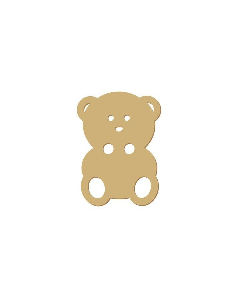 Silhouette Button 016 Teddy Bear