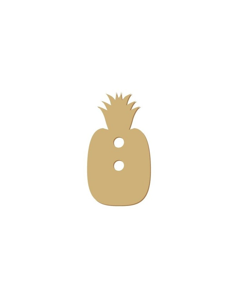 Silhouette Button 018 Pineapple