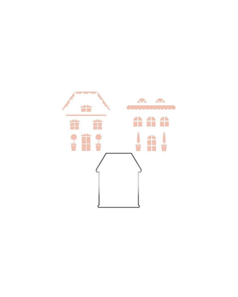 Inox Cutter Set 004 Haus + 2 Stencils