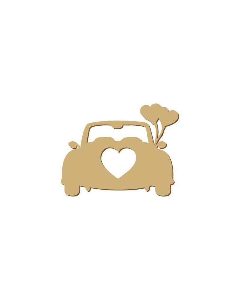 Silhouette Figur 088 Hochzeitsauto