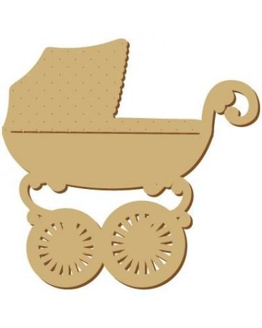 Silhouette Figur 104 Kinderwagen