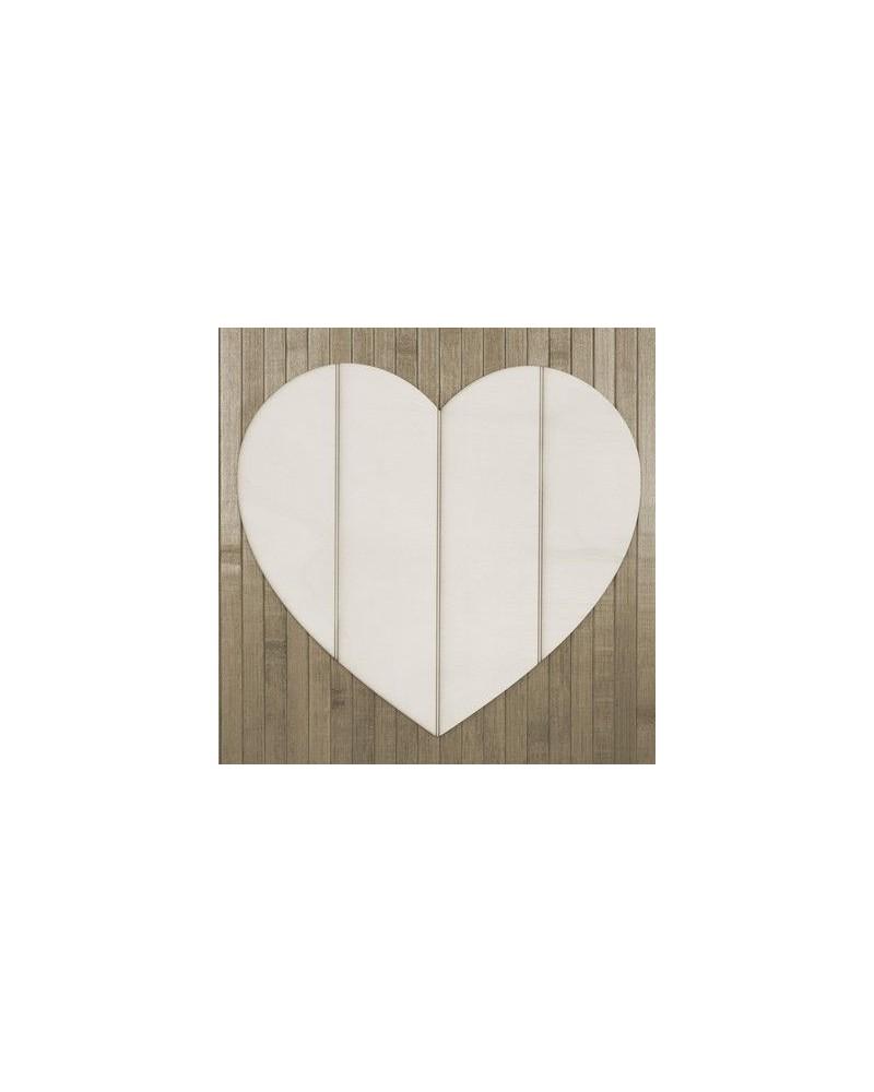 Holzbrett 002 Herz Leisten