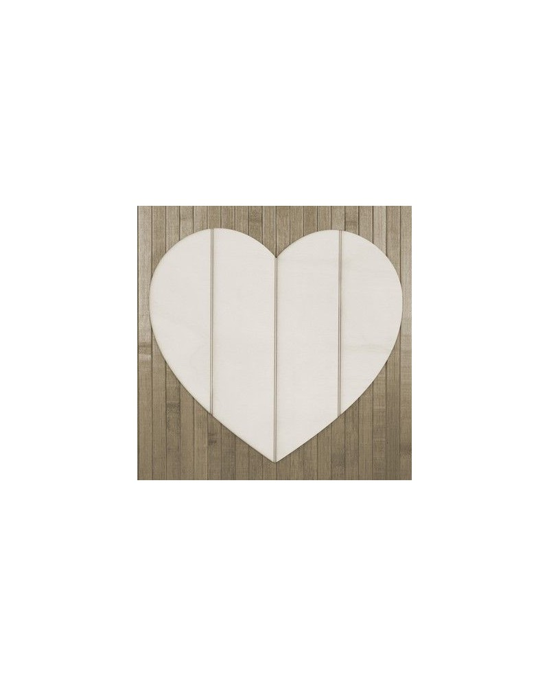 Wood Board 002 Sriped Heart