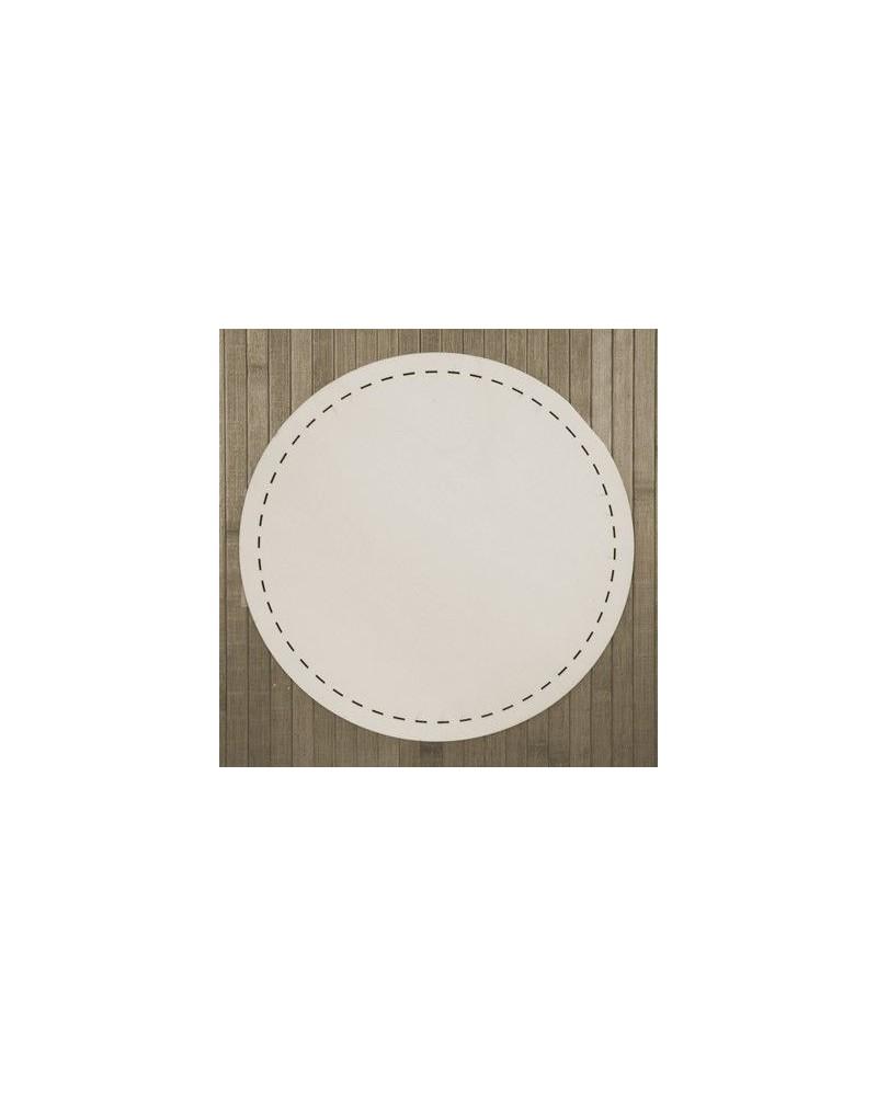 Wood Board 007 Stitched Circle