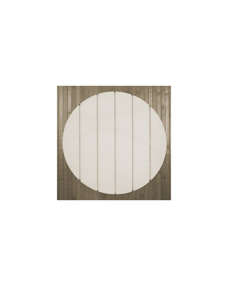 Wood Board 008 Striped Circle