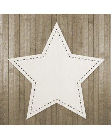 Wood Board 011 Stitched Star
