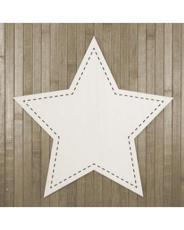 Wood Board 011 Stitched Star