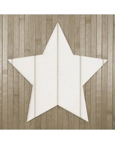 Wood Board 012 Striped Star