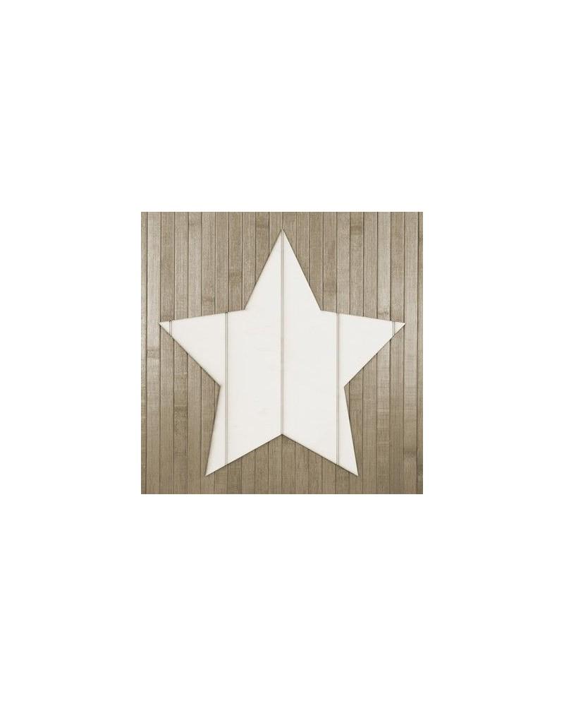 Soporte Madera 012 Estrella Listones