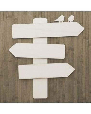 Wood Board 018 Signal with Birds