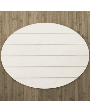 Wood Board 020 Striped Oval