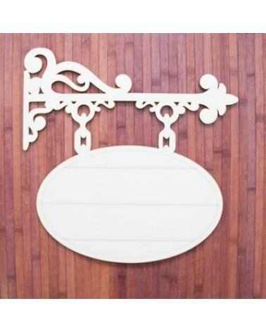 Soporte Madera 024 Cartel Colgante