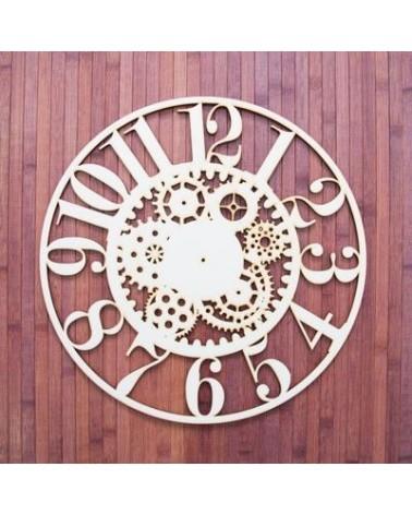 Soporte Madera 028 Reloj engranajes