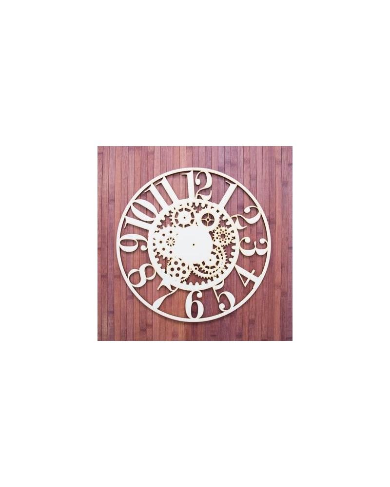 Wood Board 028-30 Clock Gears 30x30cm