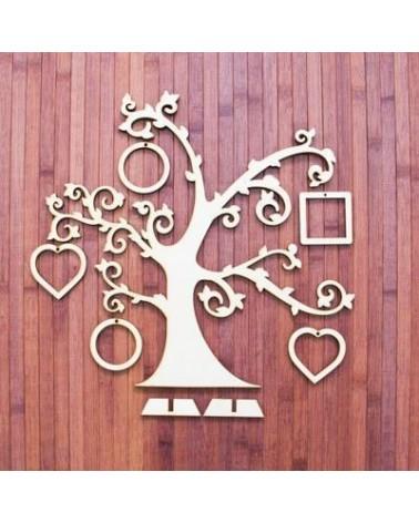 Wood Board 030-60 Photos Tree 60x60cm