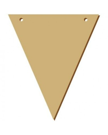 Wood Board 043-15 Triangular Pennant 11x15cm (4,3 x 5,9 in) (4,3 x