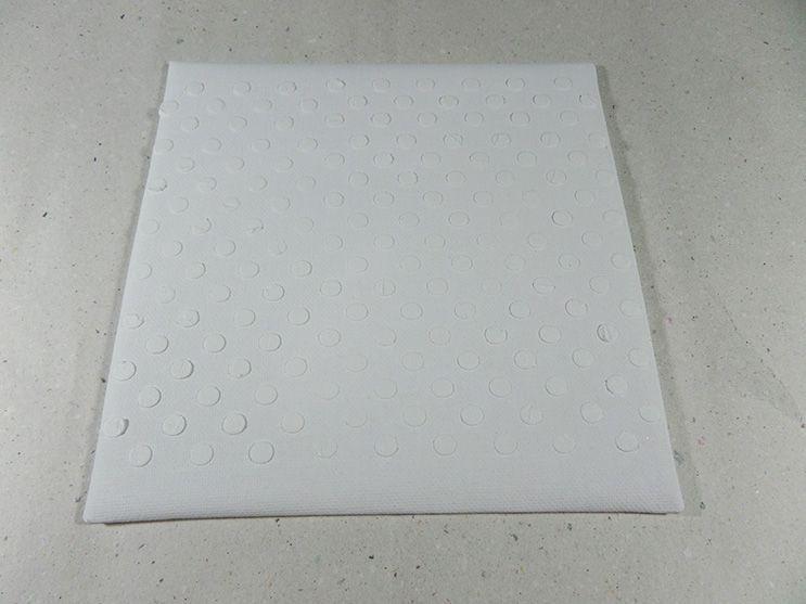 tarjeta stencil rombos paso 3