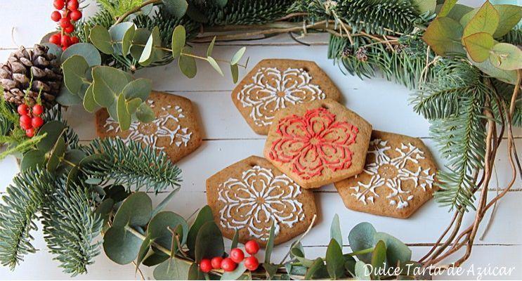 rakel cakes galletas con stencil copos de nieve