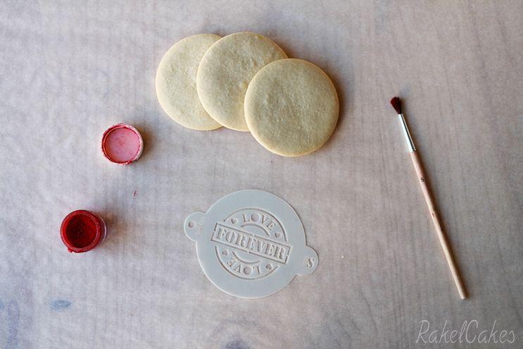 galleta san valentin con stencil 2