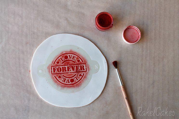 galleta san valentin con stencil 4