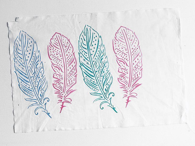 banderola plumas todostencil y markal