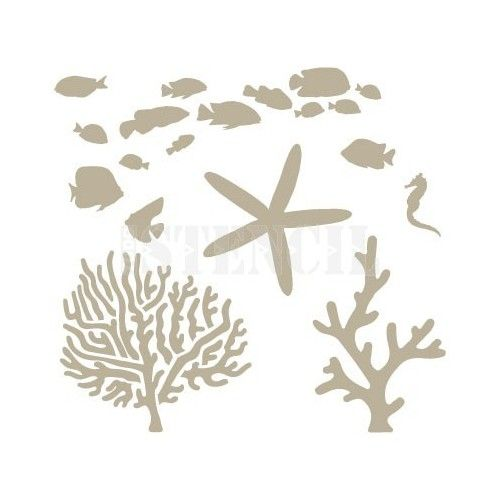 todostencil stencil figuras del mar