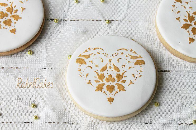 Foto Galletas boda blanco y dorado 4