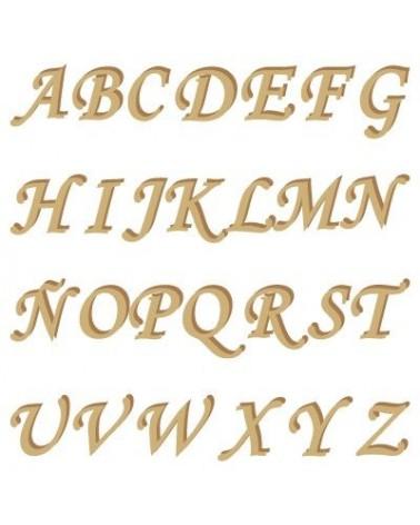 Wood Shape 001 Monotype uppercase