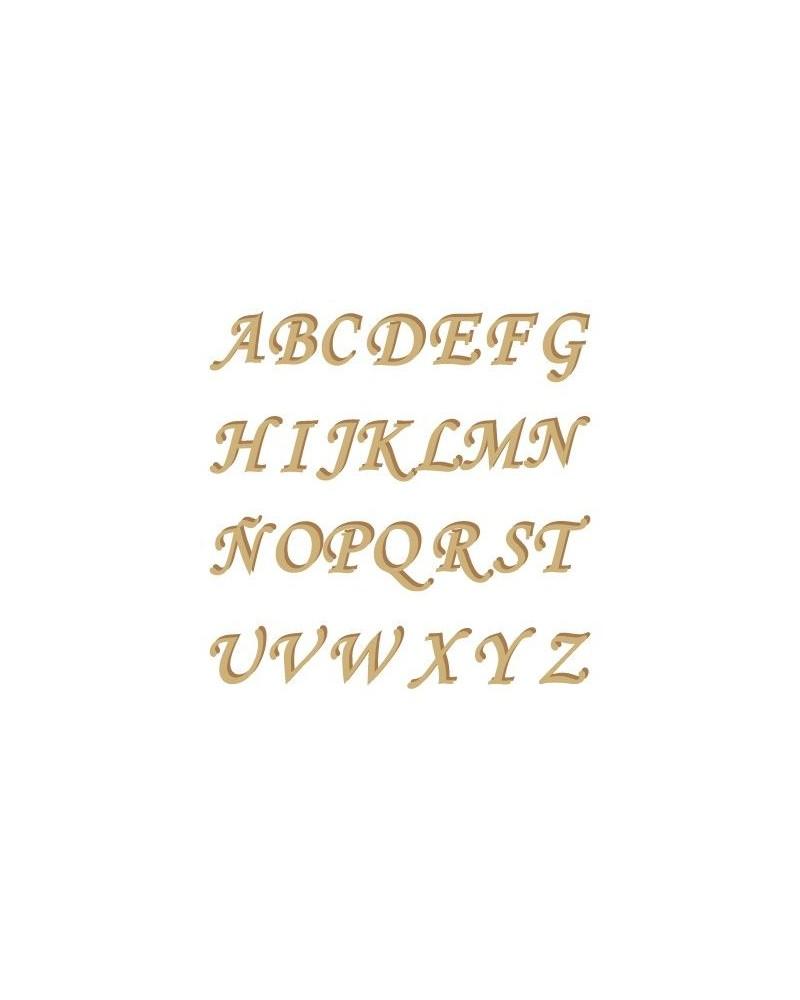 Silhouette Alphabet 001 Monotype Uppercase 15mm