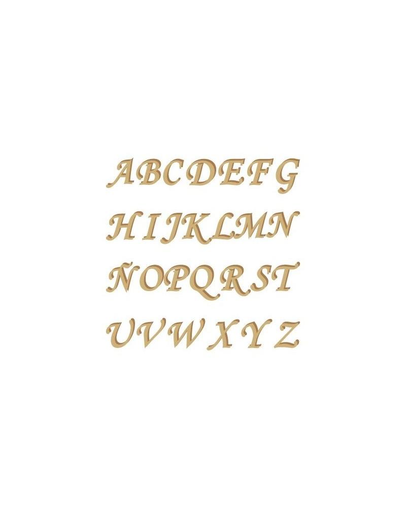 Silhouette Alphabet 001 Monotype Uppercase 60mm